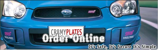 show plates for cars, bikes, commercial
